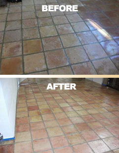 mexican tile and saltillo tile stripping and sealing